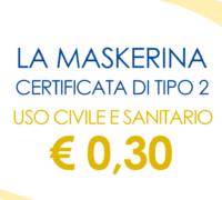 MASKERINA CERTIFICATA DI TIPO II A € 0.30